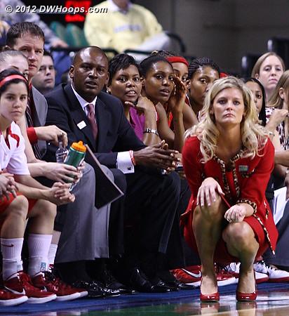 State bench  - NCSU Players: Head Coach Kellie Harper