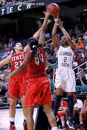 Jackets go up ten  - NCSU Players: #21 Erica Donovan, #44 Kody Burke - GT Tags: #2 Mo Bennett