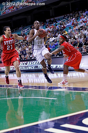 Marshall drives as MGC extends the hand of friendship  - NCSU Players: #21 Erica Donovan