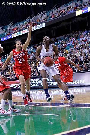 DWHoops Photo  - NCSU Players: #21 Erica Donovan - GT Tags: #15 Tyaunna Marshall