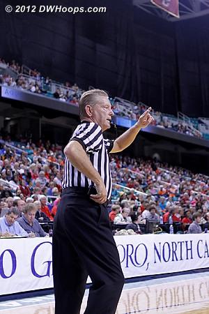 Referee Joe Cunningham pretended not to hear Harper