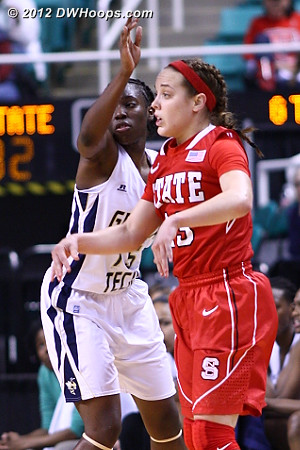 Kastanek was back in the game, but it was too little too late  - NCSU Players: #23 Marissa Kastanek - GT Tags: #15 Tyaunna Marshall