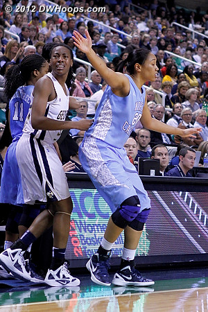 DWHoops Photo  - UNC Players: #20 Chay Shegog - GT Tags: #32 Chelsea Regins