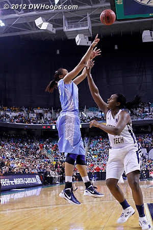 DWHoops Photo  - UNC Players: #20 Chay Shegog - GT Tags: #45 Sasha Goodlett