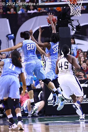 Broomfield gets a most timely stuff  - UNC Players: #33 Laura Broomfield