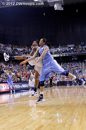DWHoops Photo  - UNC Players: #20 Chay Shegog - GT Tags: #5 Metra Walthour