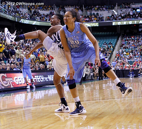 Who would get possession?  - UNC Players: #20 Chay Shegog - GT Tags: #5 Metra Walthour