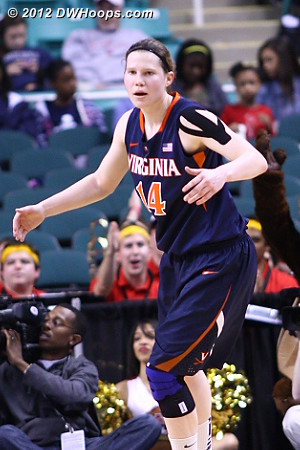 Gerson wanted a foul call that didn't come  - UVA Players: #14 Lexie Gerson