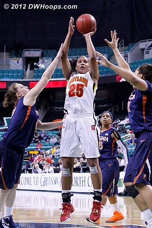 DWHoops Photo  - UVA Players: #10 Kelsey Wolfe, #21 Jazmin Pitts - MD Tags: #25 Alyssa Thomas