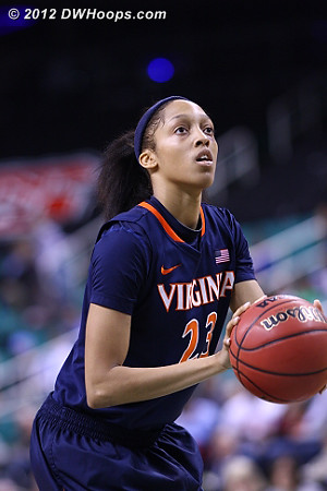 Franklin on the line  - UVA Players: #23 Ataira Franklin