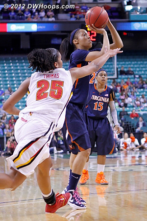 DWHoops Photo  - UVA Players: #23 Ataira Franklin - MD Tags: #25 Alyssa Thomas