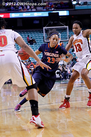 DWHoops Photo  - UVA Players: #23 Ataira Franklin - MD Tags: #13 Alicia DeVaughn