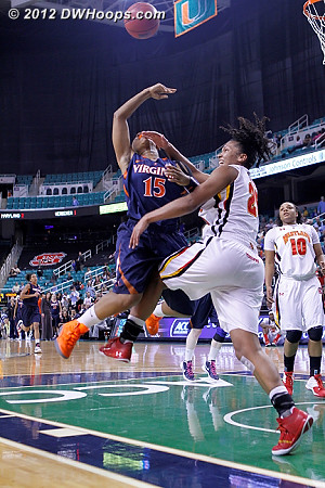 For Virginia this game was pretty much a pop in the mouth  - UVA Players: #15 Ariana Moorer - MD Tags: #25 Alyssa Thomas