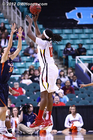 When Kizer started making threes, well, it just wasn't Virginia's night  - MD Players: #12 Lynetta Kizer