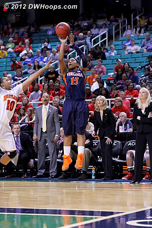 DWHoops Photo  - UVA Players: #15 Ariana Moorer - MD Tags: #10 Anjale Barrett