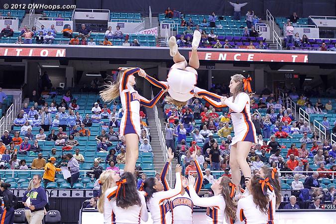 DWHoops Photo  - UVA Players:  Virginia Cheerleaders