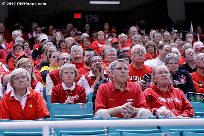 Maryland brought a whole lot of fans, and they'll be here tomorrow  - MD Players:  Maryland Fans