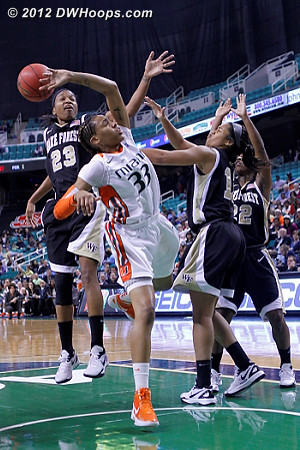 One more frame of the Walker swat  - MIA Players: #33 Suriya McGuire