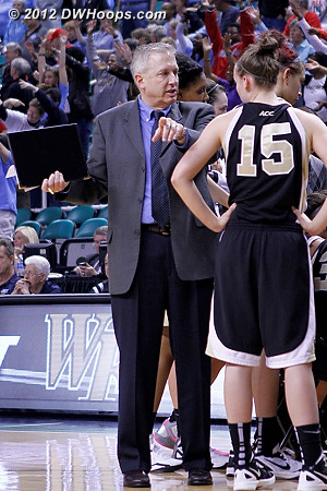 DWHoops Photo  - WAKE Players: #15 Millesa Calicott, Assistant Coach Bob Clark