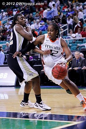 DWHoops Photo  - WAKE Players: #22 Lakevia Boykin - MIA Tags: #42 Shenise Johnson
