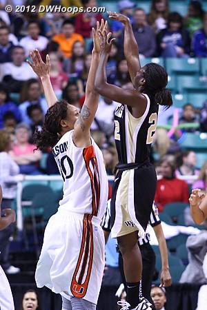 Wake goes up by 13  - WAKE Players: #22 Lakevia Boykin - MIA Tags: #40 Shawnice Wilson