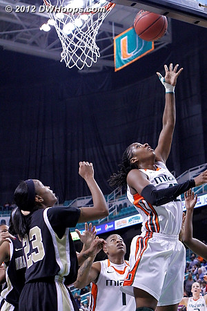 Nothing was going right for Miami  - MIA Players: #42 Shenise Johnson