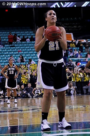 Garcia got one shot with under a second put back on the clock  - WAKE Players: #21 Sandra Garcia