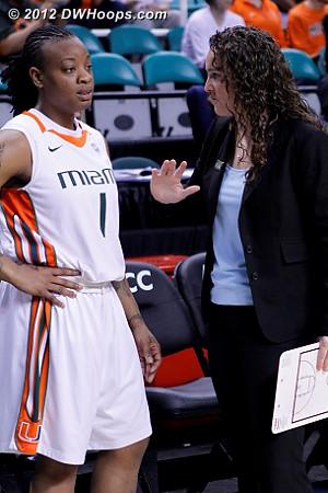 DWHoops Photo  - MIA Players: #1 Riquna Williams, Assistant Coach Carolyn Kieger