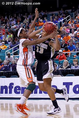 DWHoops Photo  - WAKE Players: #13 Mykala Walker - MIA Tags: #1 Riquna Williams, #34 Sylvia Bullock
