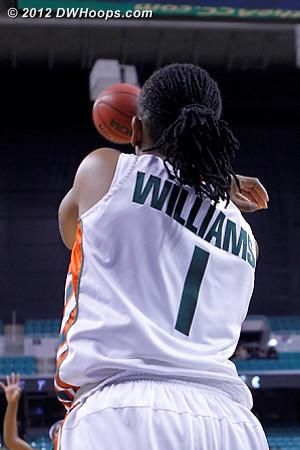 Inbounds pass  - MIA Players: #1 Riquna Williams