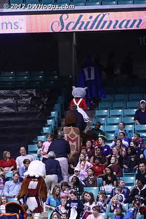 Mascots head to the concourse for another Mascot Night festivity
