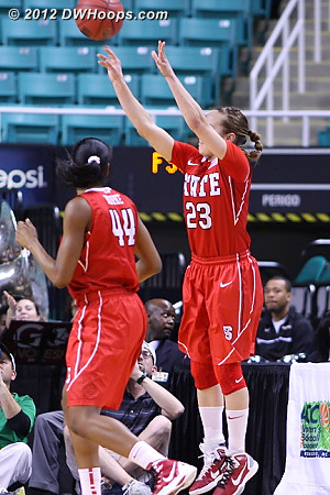 State's second trey, great screen by Burke  - NCSU Players: #23 Marissa Kastanek, #44 Kody Burke