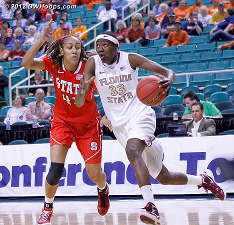 DWHoops Photo  - FSU Players: #33 Natasha Howard - NCSU Tags: #41 Lakeesa Daniel