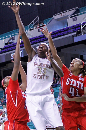 10-8 Noles  - FSU Players: #33 Natasha Howard - NCSU Tags: #41 Lakeesa Daniel