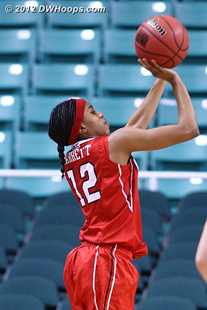 Barrett didn't scratch despite this open three  - NCSU Players: #12 Krystal Barrett