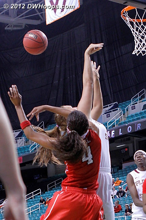 Foul on Bell  - NCSU Players: #4 Tia Bell
