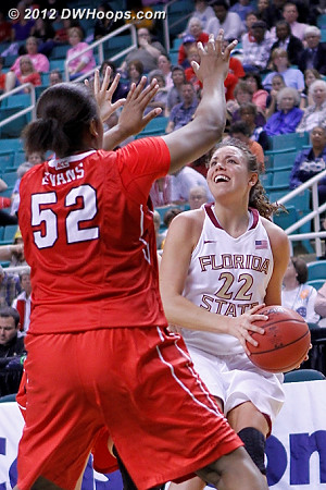 Good D encountered  - FSU Players: #22 Olivia Bresnahan - NCSU Tags: #52 Kiana Evans
