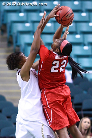 Foul on Davis  - FSU Players: #34 Chelsea Davis - NCSU Tags: #22 Bonae Holston