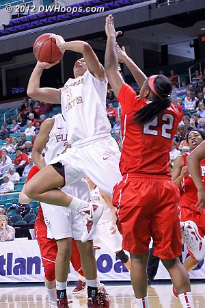 DWHoops Photo  - FSU Players: #3 Alexa Deluzio - NCSU Tags: #22 Bonae Holston