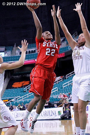 DWHoops Photo  - FSU Players: #54 Cierra Bravard - NCSU Tags: #22 Bonae Holston