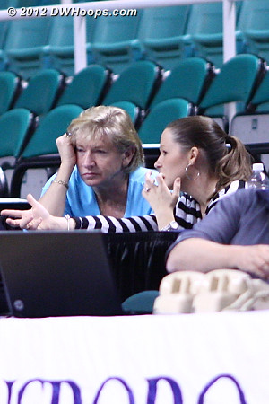 Coach Hatchell with our old ACC friend Lindsey Ross, who is now with ESPN