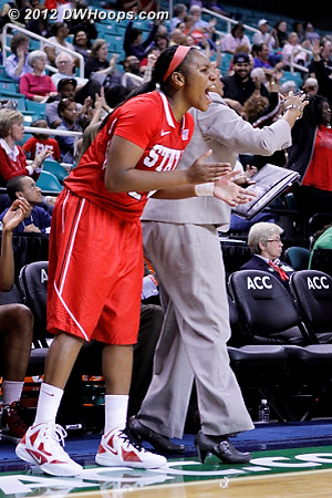 Erica would get her chance down the stretch  - NCSU Players: #21 Erica Donovan