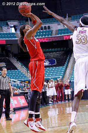 Bell for 2, 50-49 FSU  - NCSU Players: #4 Tia Bell