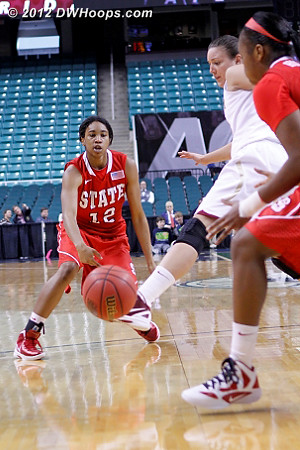 Nice entry pass  - NCSU Players: #12 Krystal Barrett