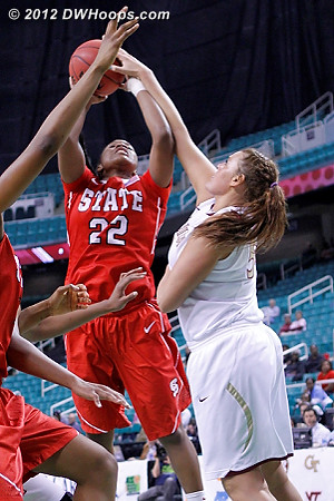 Rejection by Bravard!  - FSU Players: #54 Cierra Bravard - NCSU Tags: #22 Bonae Holston