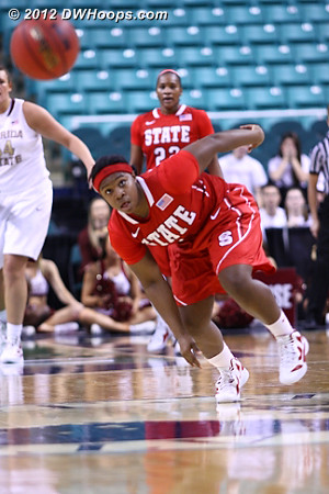 State gets the steal  - NCSU Players: #1 Myisha Goodwin-Coleman