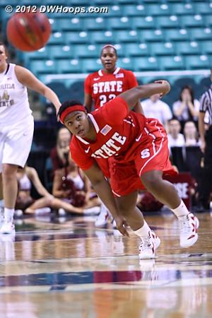 State gets the steal  - NCSU Players: #1 Myisha Goodwin-Coleman