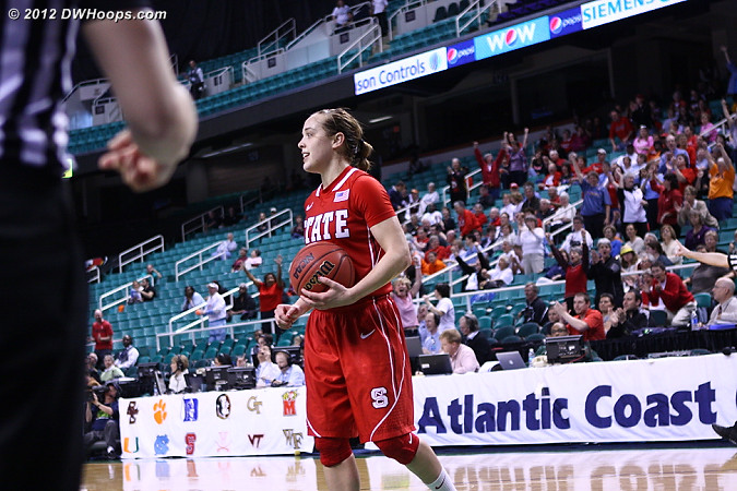 Ballgame! Pack wins 74-71.  - NCSU Players: #23 Marissa Kastanek