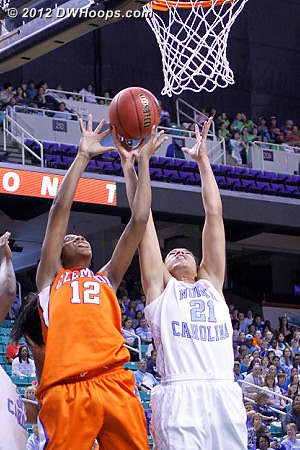Clemson was outrebounded 47-28  - UNC Players: #21 Krista Gross - CLEM Tags: #12 Quinyotta Pettaway