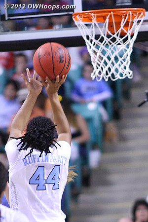 42 points in the paint for the Heels  - UNC Players: #44 Tierra Ruffin-Pratt